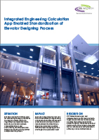 Integrated Engineering Calculation App Enabled Standardization of Elevator Designing Process
