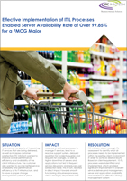 Effective Implementation of ITIL Processes Enabled Server Availability Rate of Over 99.85% for a FMCG Major