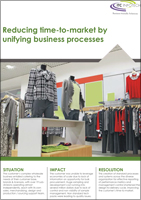Reducing time-to-market by unifying business processes