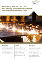 Streamlining Production Processes and effecting Throughput Improvements for a leading Metals Manufacturer