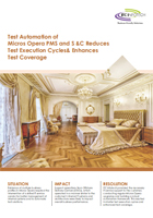 Test Automation of Micros Opera PMS and S &C Reduces Test Execution Cycles& Enhances Test Coverage