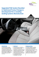 Upgraded PLM system – Seating systems manufacturing