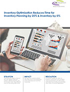 Inventory Optimization Reduces Time for Inventory Planning