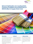 Network Optimization Facilitates Annual Reduction in Supply Chain Costs