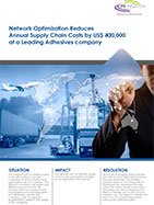 Network Optimization Reduces Annual Supply Chain Costs