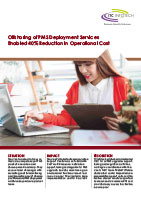Offshoring of PMS Deployment Services Enabled 40% Reduction in Operational Cost