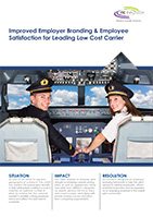 Improved Employer Branding & Employee Satisfaction for Leading Low Cost Carrier